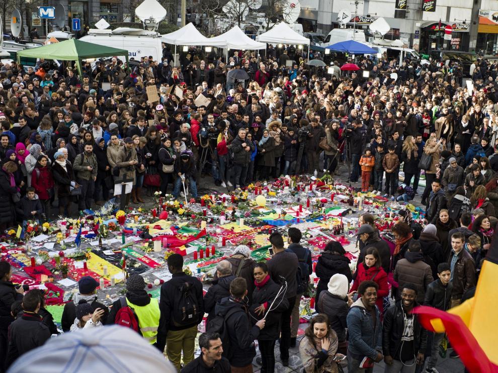 Homenaje a las víctimas en Bruselas este miércoles