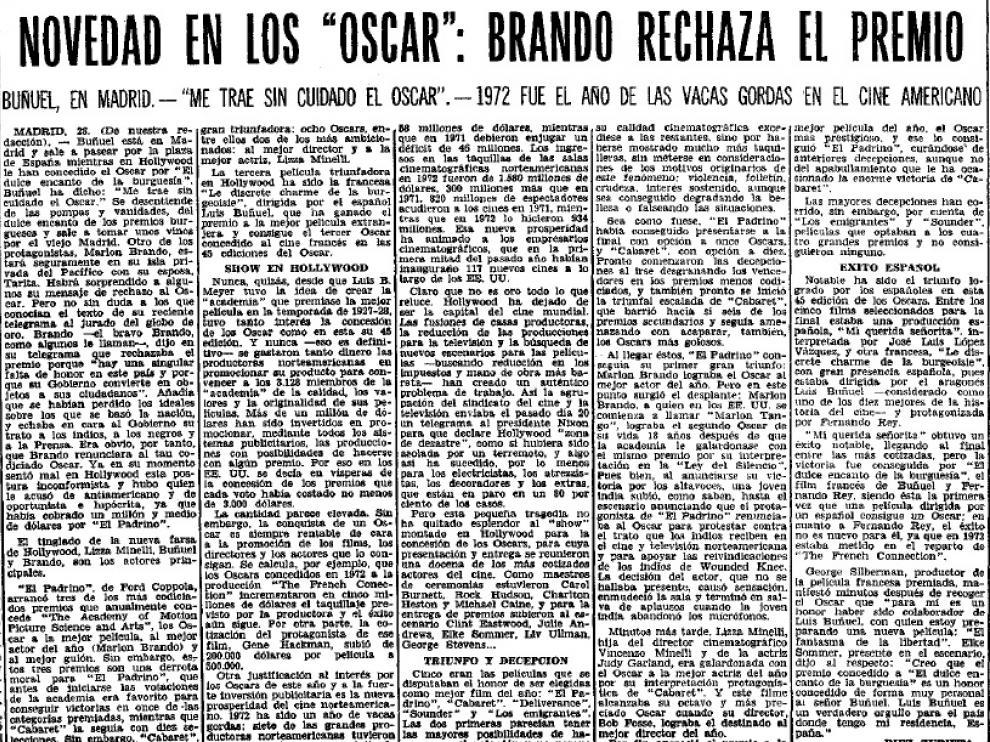 """A Buñuel """"le trae sin cuidado"""" el Óscar"""