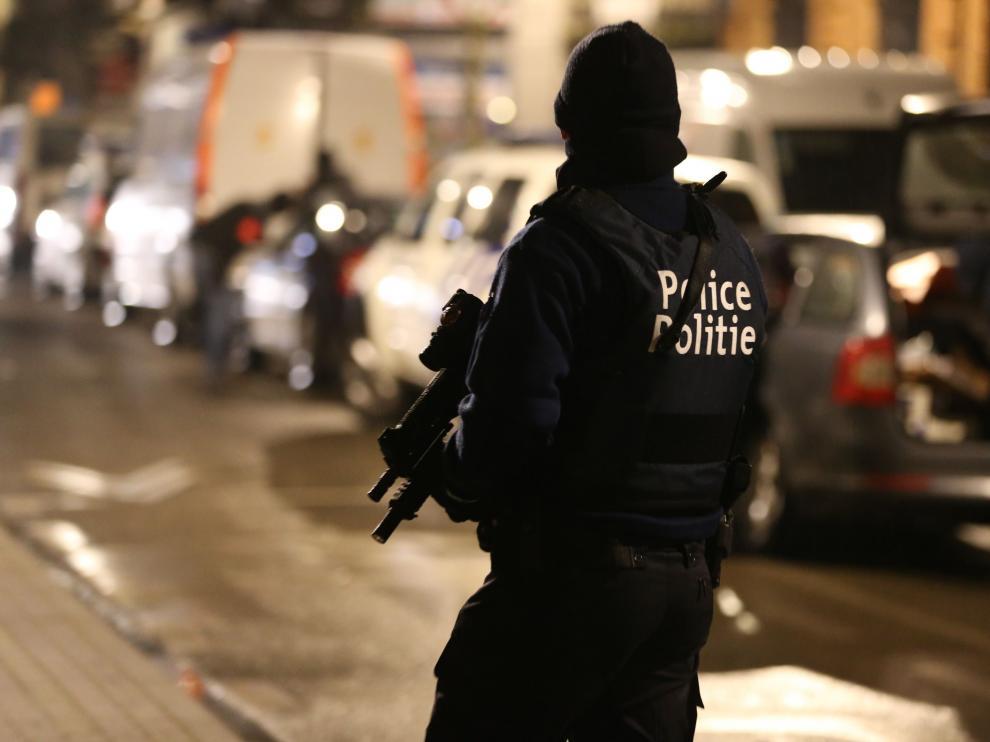 Operación antiterrorista en Bruselas