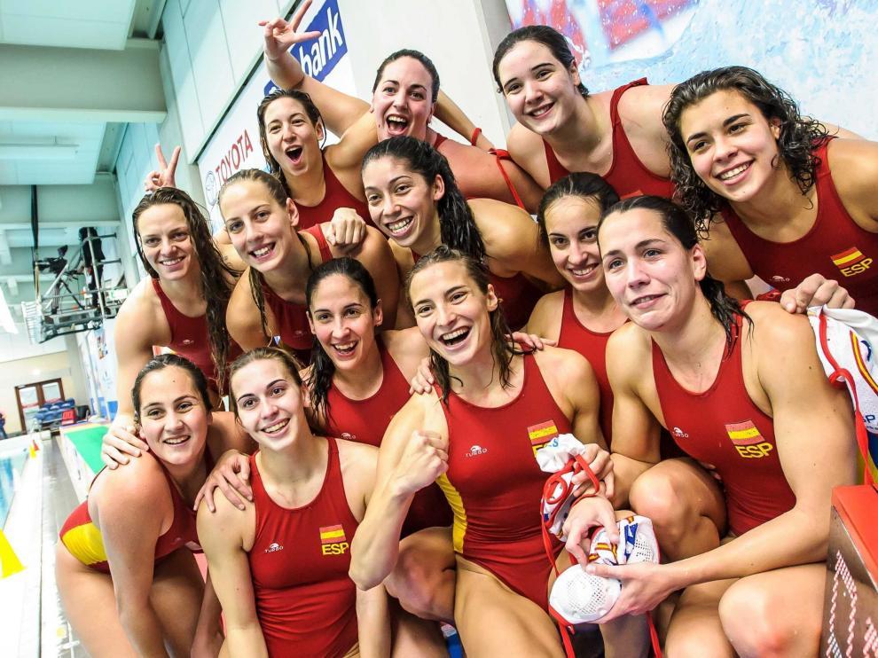 Selección española de waterpolo femenino.