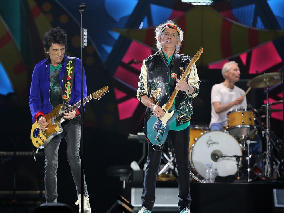 The Rolling Stones en concierto en La Habana.