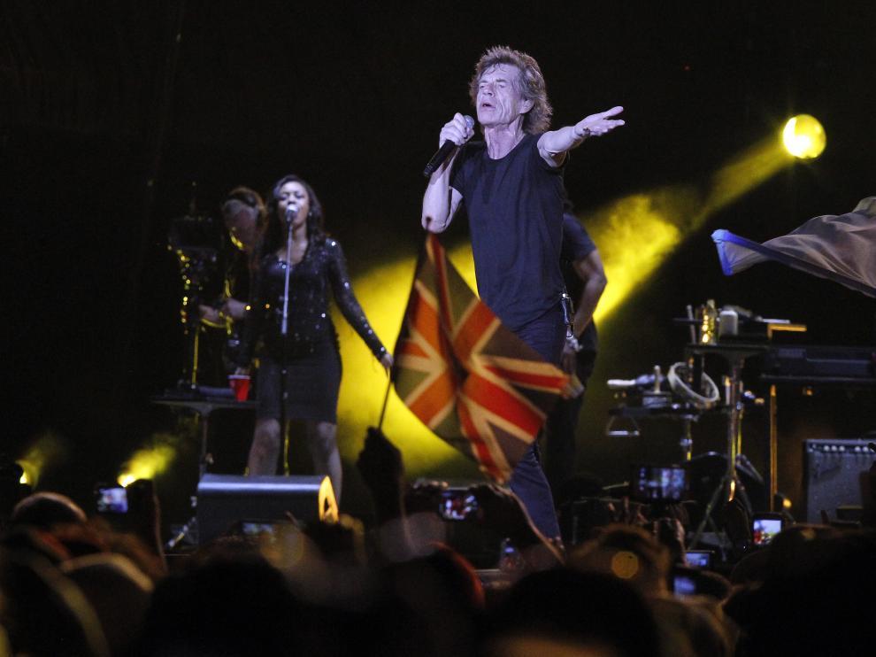 Los Rolling Stones durante su reciente concierto en La Habana.