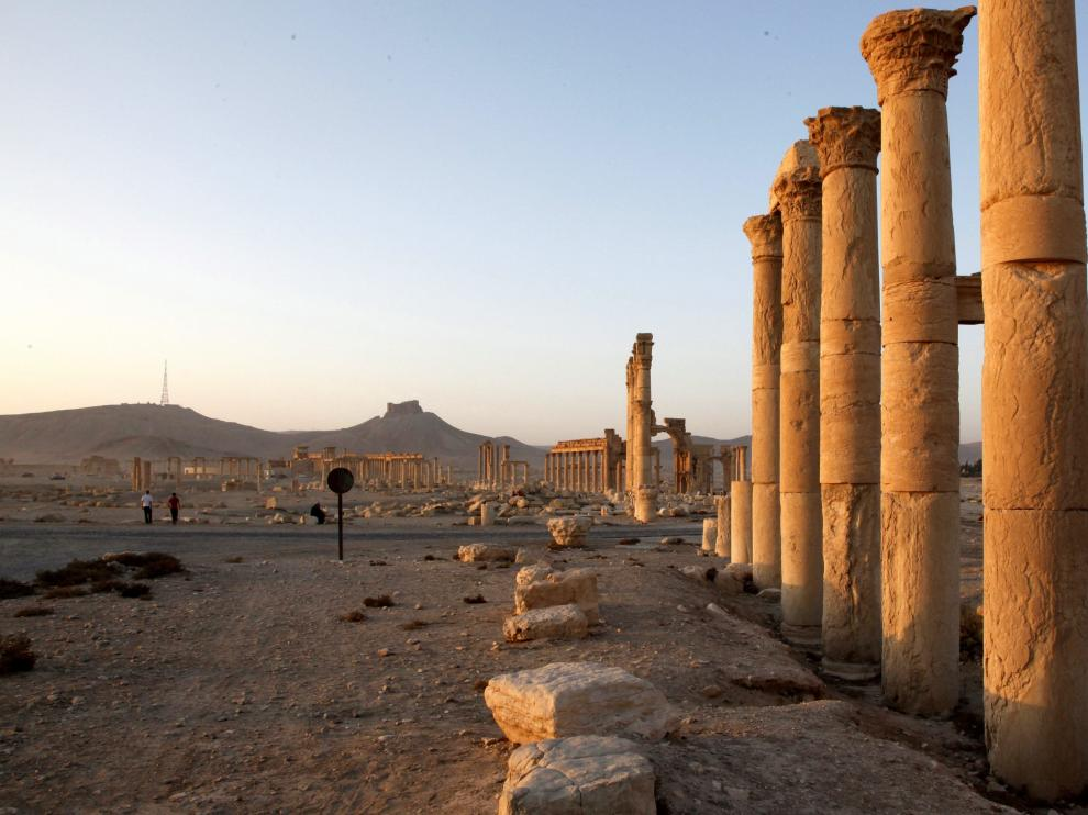 Restos en la ciudad de Palmira.