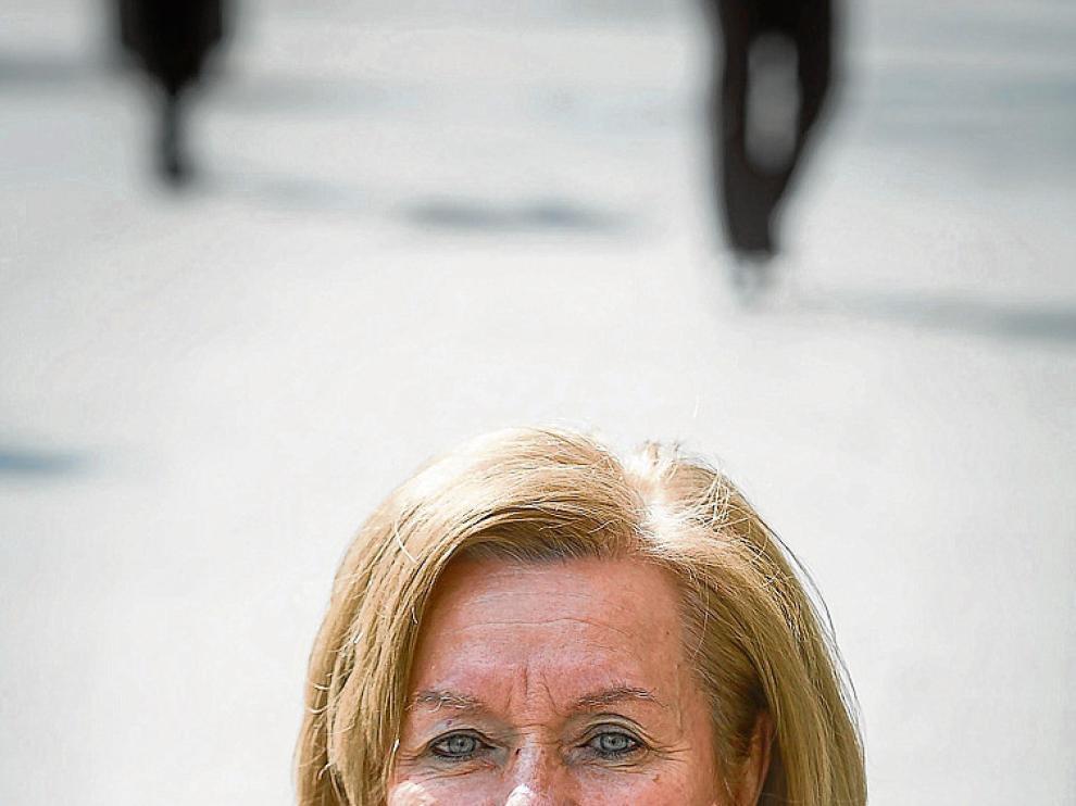 La presidenta de Arbada, Nieves Larrarte, en Zaragoza.