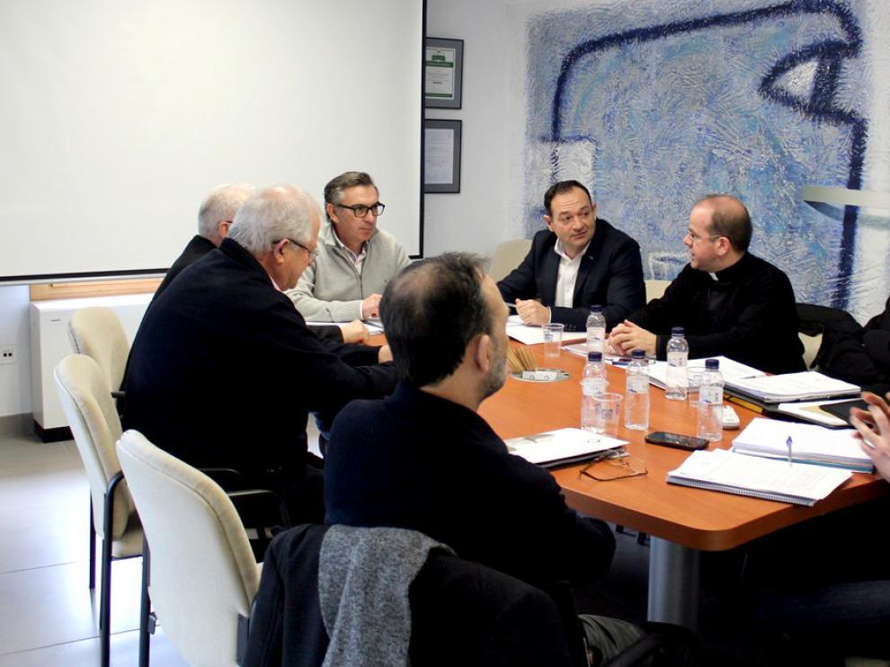 Imágenes de la reunión mantenida por el patronato de la Fundación Tarazona Monumental.