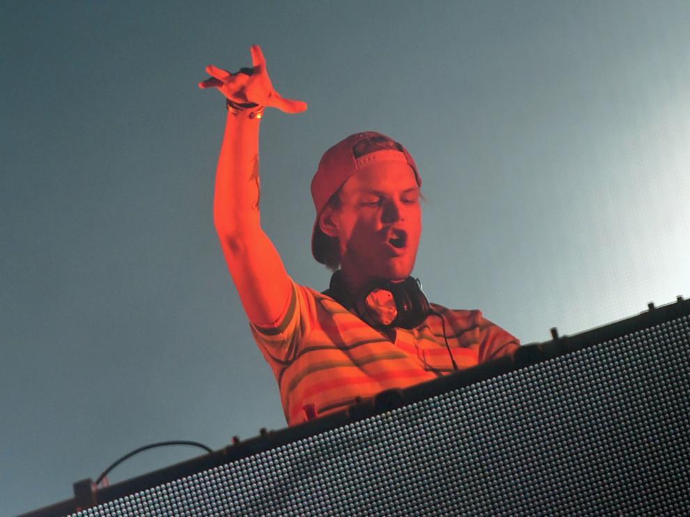 El DJ sueco Avicii en uno de sus shows.