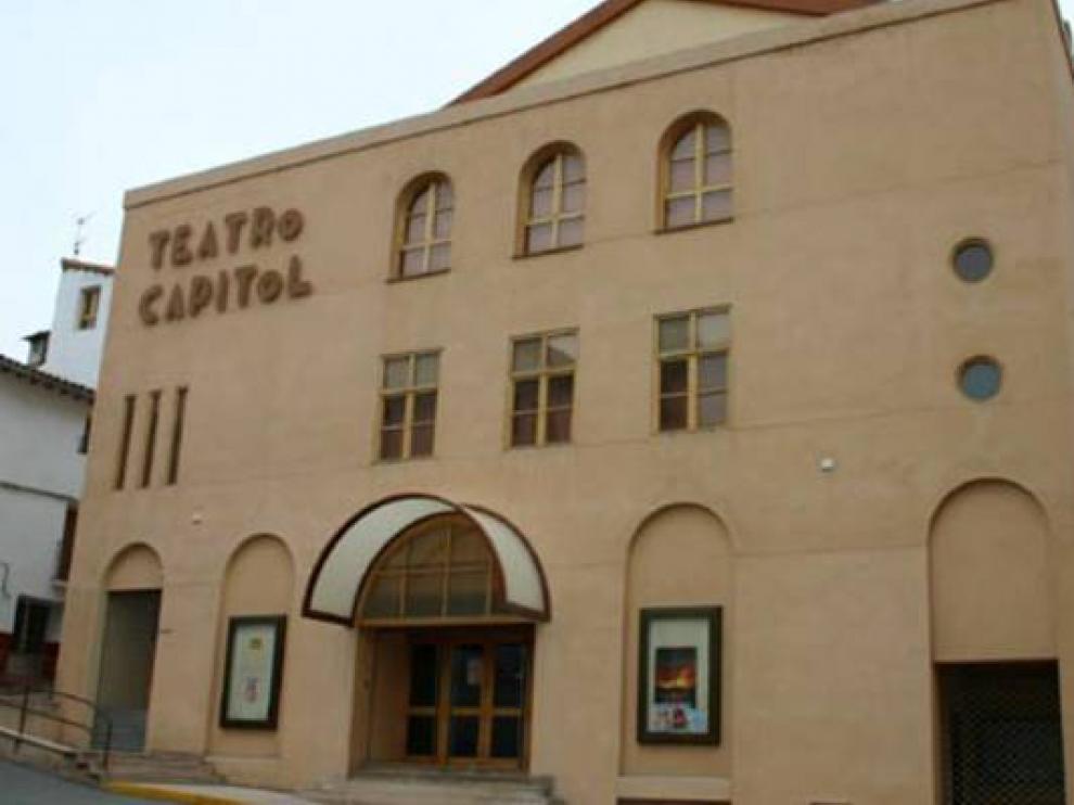 Fachada del teatro Capitol de Calatayud.