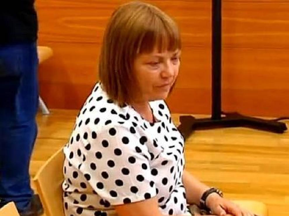 La condenada durante el juicio por agredir a dos niños de dos años.