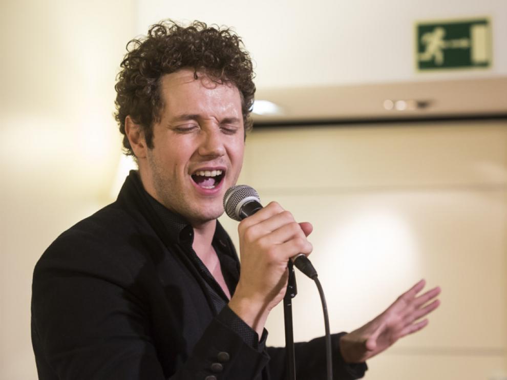 Aunque solo interpretó cuatro temas, Daniel Diges se tomó su tiempo para preparar bien la voz.