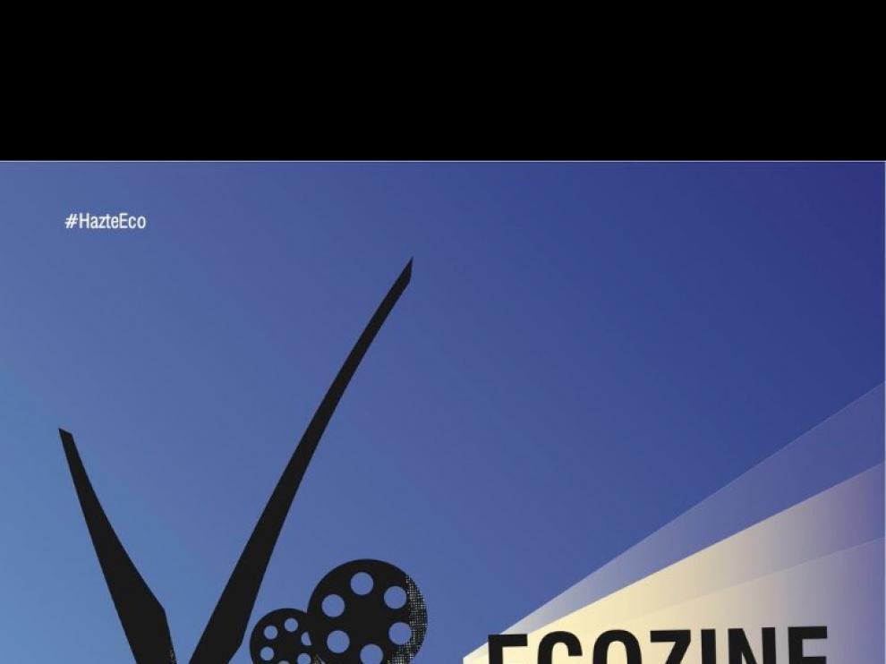 Cartel de la IX edición del Festival EcoZine de Zaragoza.