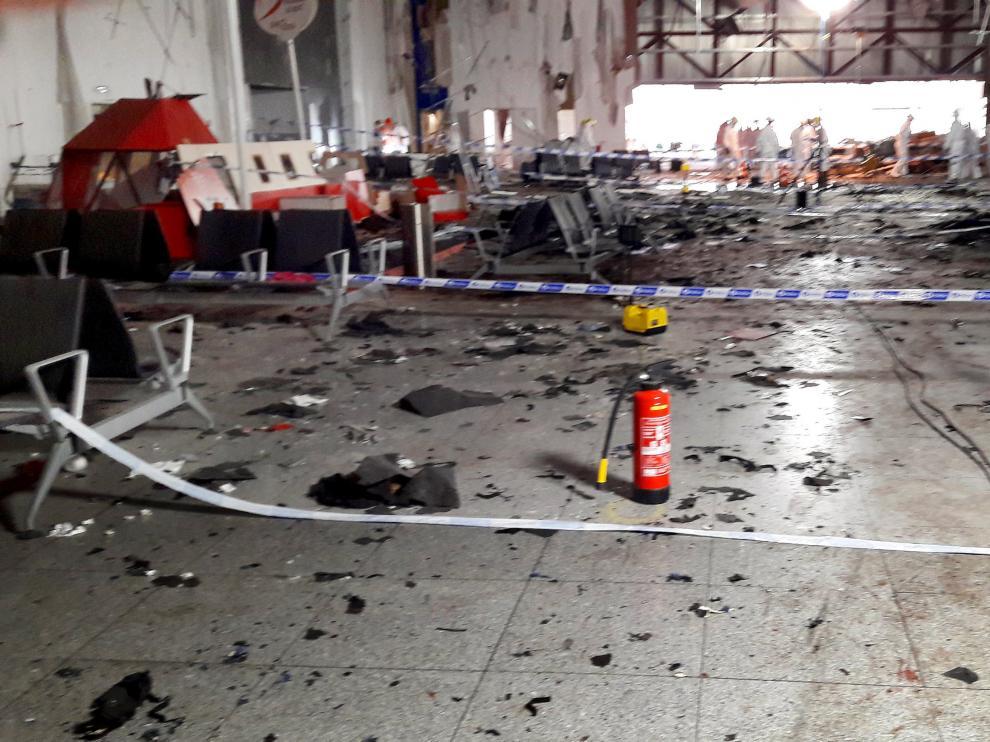 Así quedó el aeropuerto de Bruselas tras el atentado del pasado 22 de marzo.