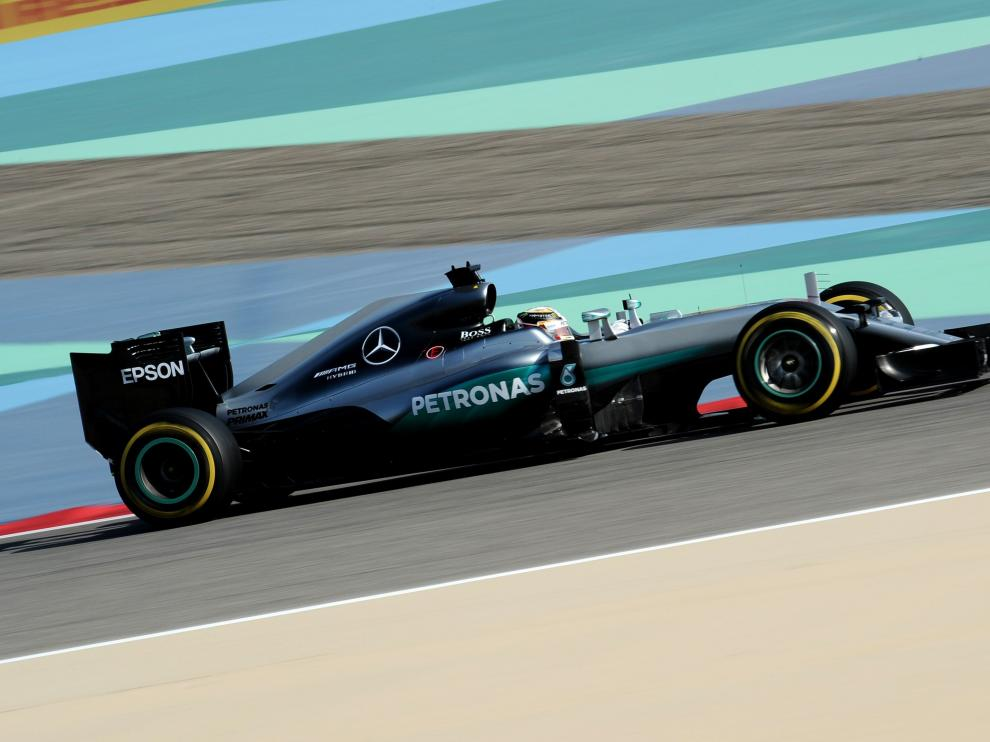Lewis Hamilton en Bahréin