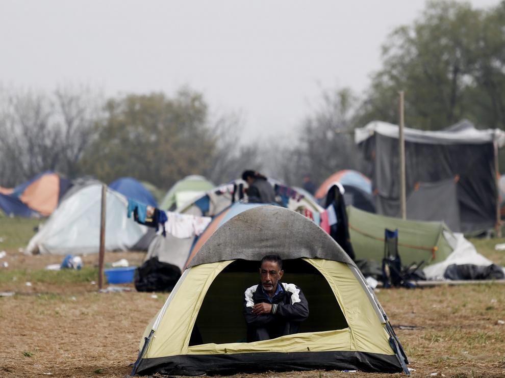 Campo de refugiados de Idomeni, este sábado.