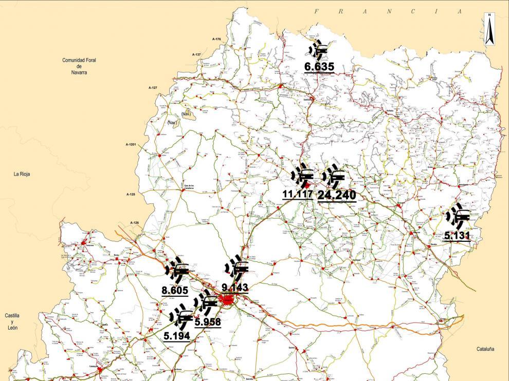 Mapa de los radares que más multan