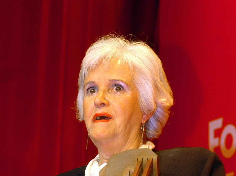 Chus Lampreave recogía un galardón en 2005
