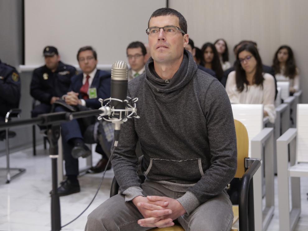 El etarra Jorge Olaiz durante su declaración en la Audiencia Nacional.