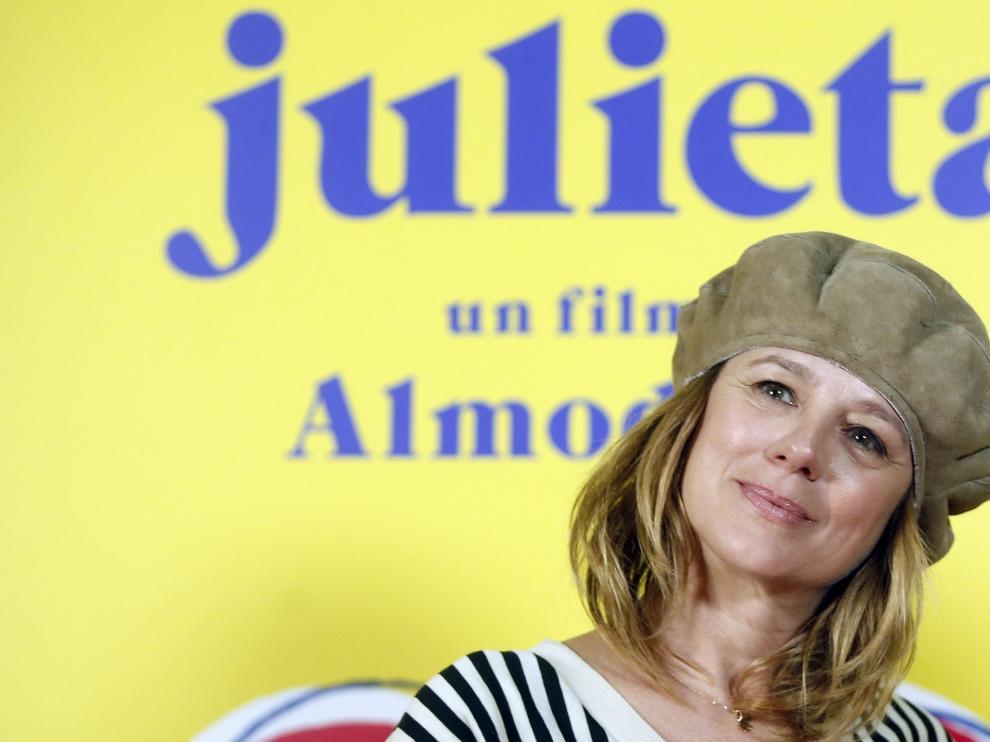 Emma Suárez, en la presentación de 'Julieta'.