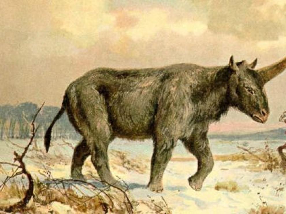 Dibujo del unicornio de Siberia, por Heinrich Harder (BBC Mundo)