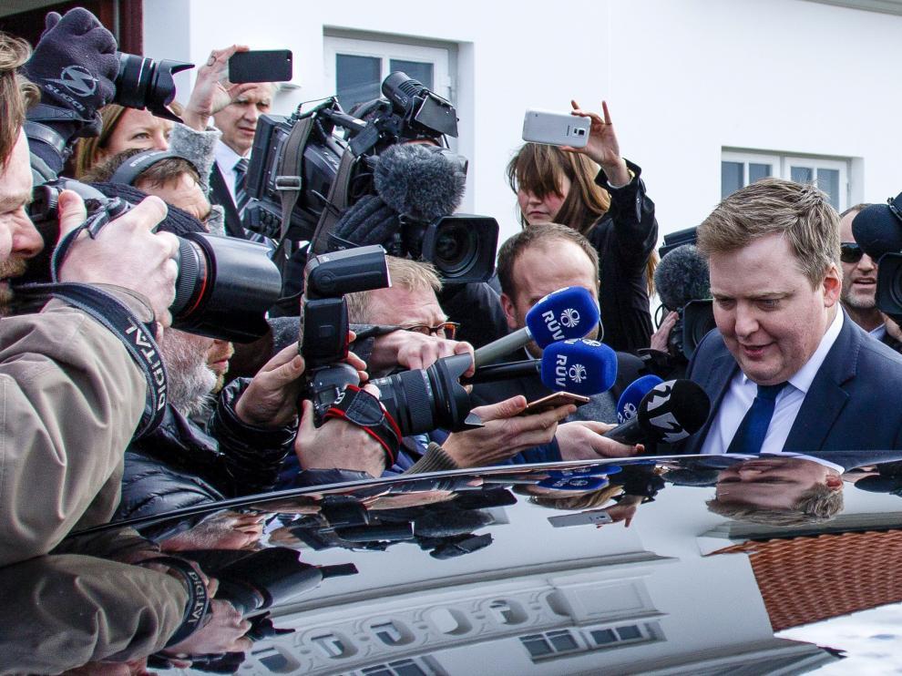 El hasta ahora primer ministro islandés, Sigmundur David Gunnlaugsson.