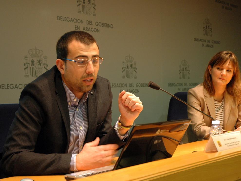 Jornada formativa sobre el Sistema de Seguimiento Integral en Casos de Violencia de Género celebrada este martes en la Delegación del Gobierno en Aragón.