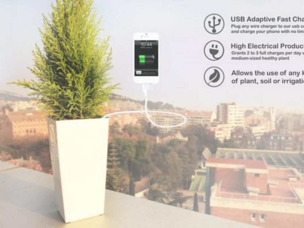 Cargar el móvil con una planta será posible gracias al proyecto Bioo.