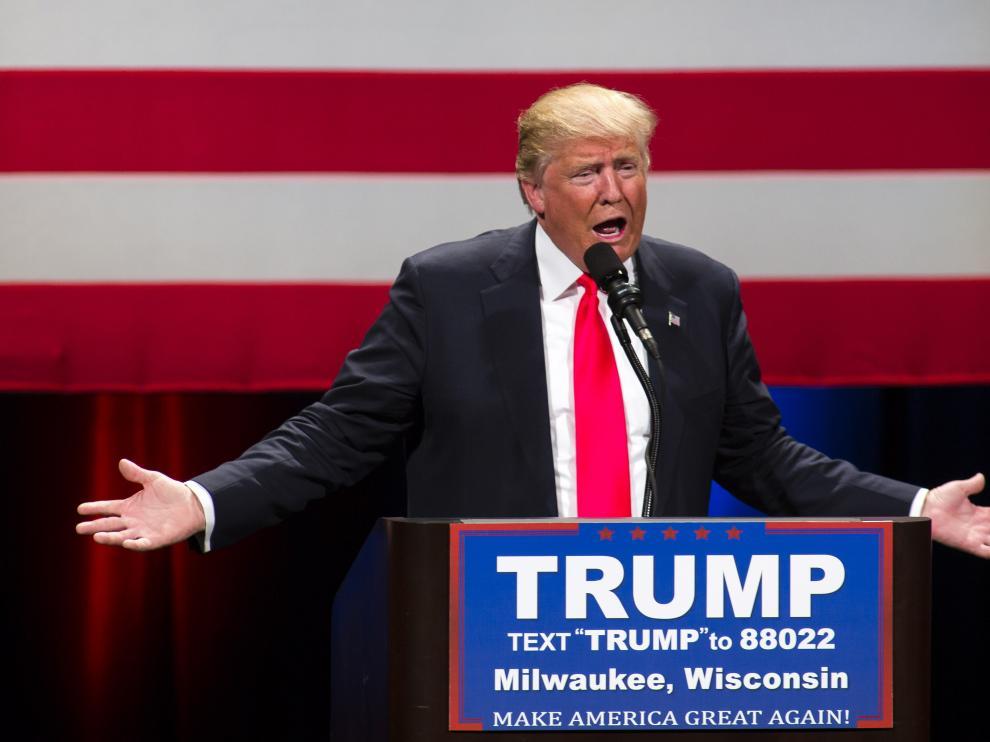 El aspirante presidencial republicano Donald Trump.