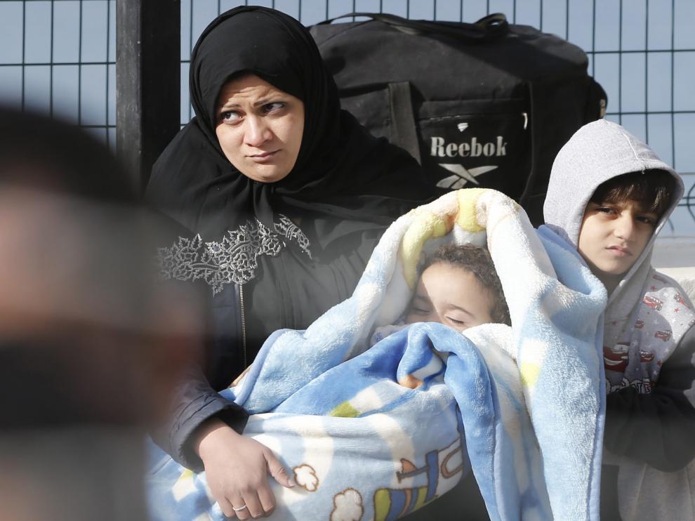 Refugiados, a su llegada a Turquía tras ser expulsados de la UE
