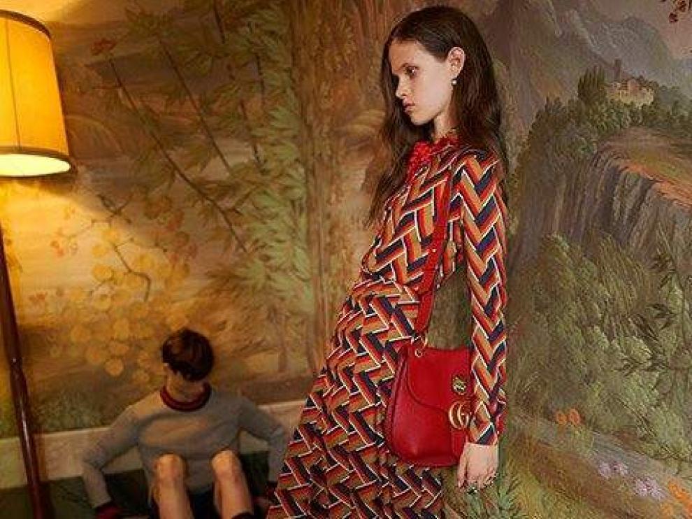 Este anuncio de Gucci fue retirado por la extrema delgadez de la modelo.