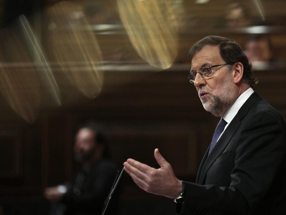 Mariano Rajoy durante su intervención en el Congreso de los Diputados.