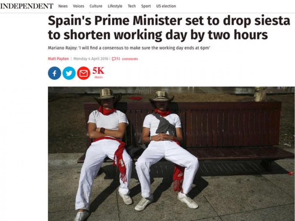 Imagen de la informacion de The independent