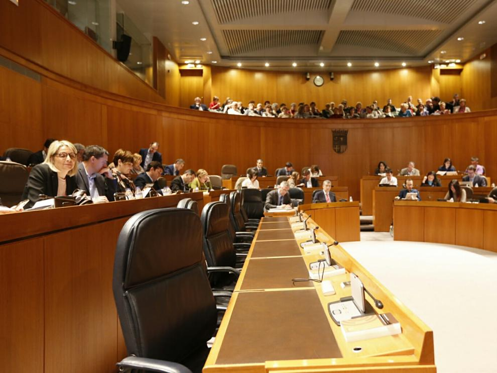Imagen de archivo de un Pleno de las Cortes de Aragón.