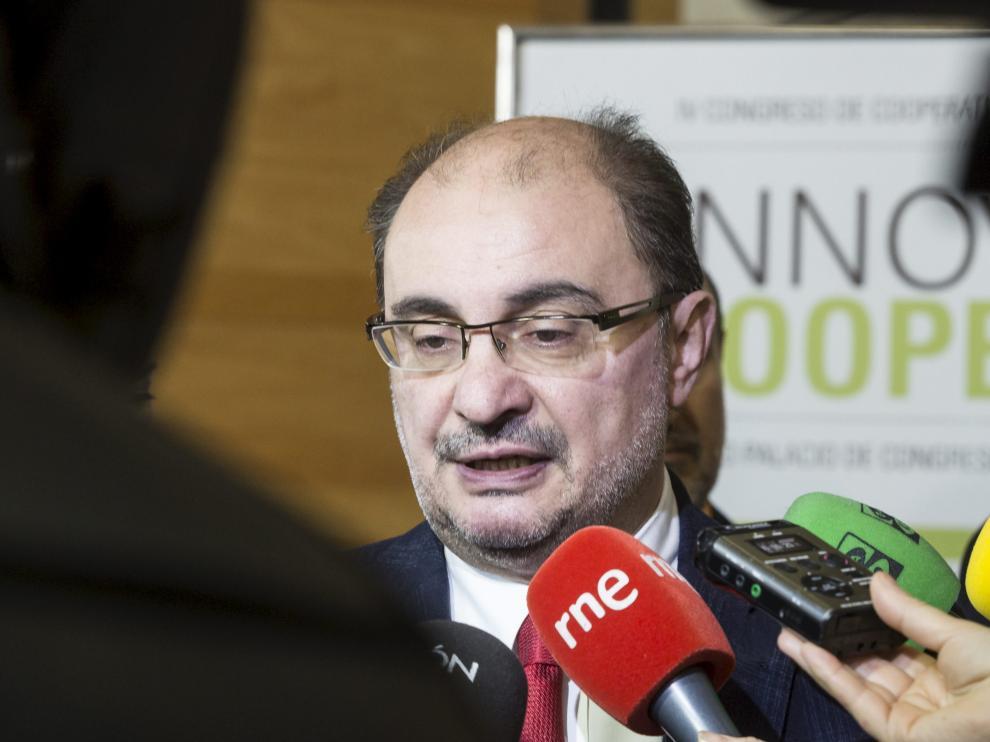 El presidente de Aragón, Javier Lambán, en una foto de archivo.