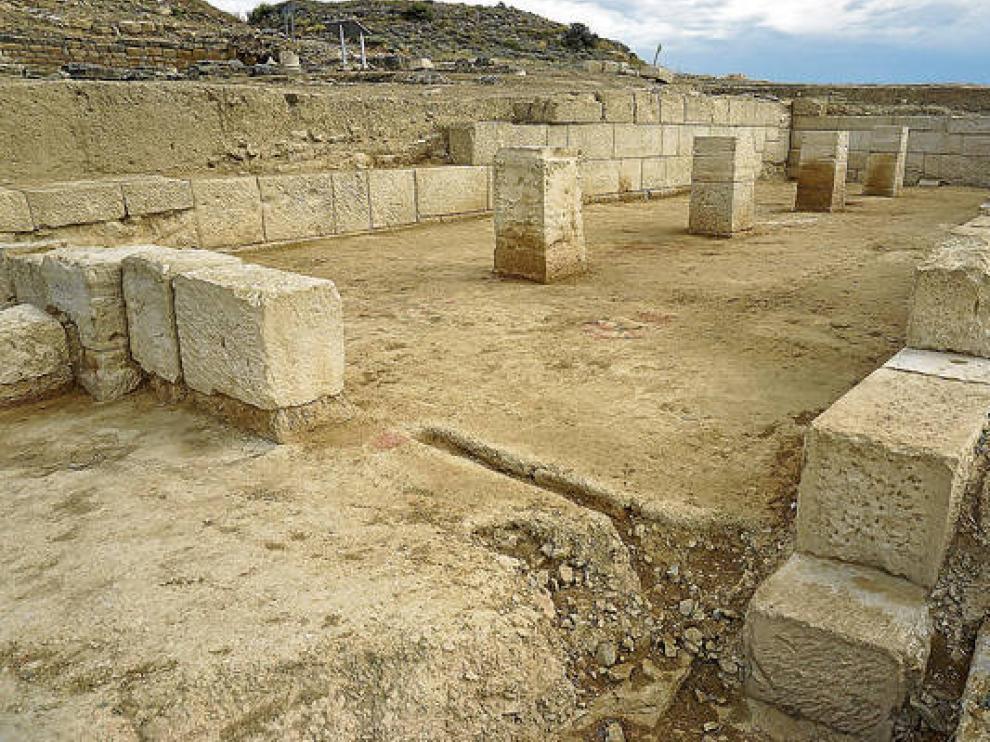 El yacimiento arqueológico de Los Bañales, cerca de la localidad de Uncastillo.