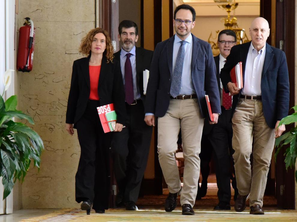 Equipo negociador del PSOE en el Congreso.