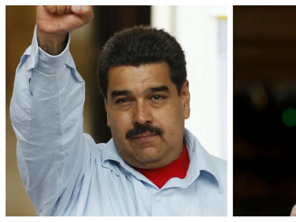 Combo de imágenes de Maduro y Rajoy.