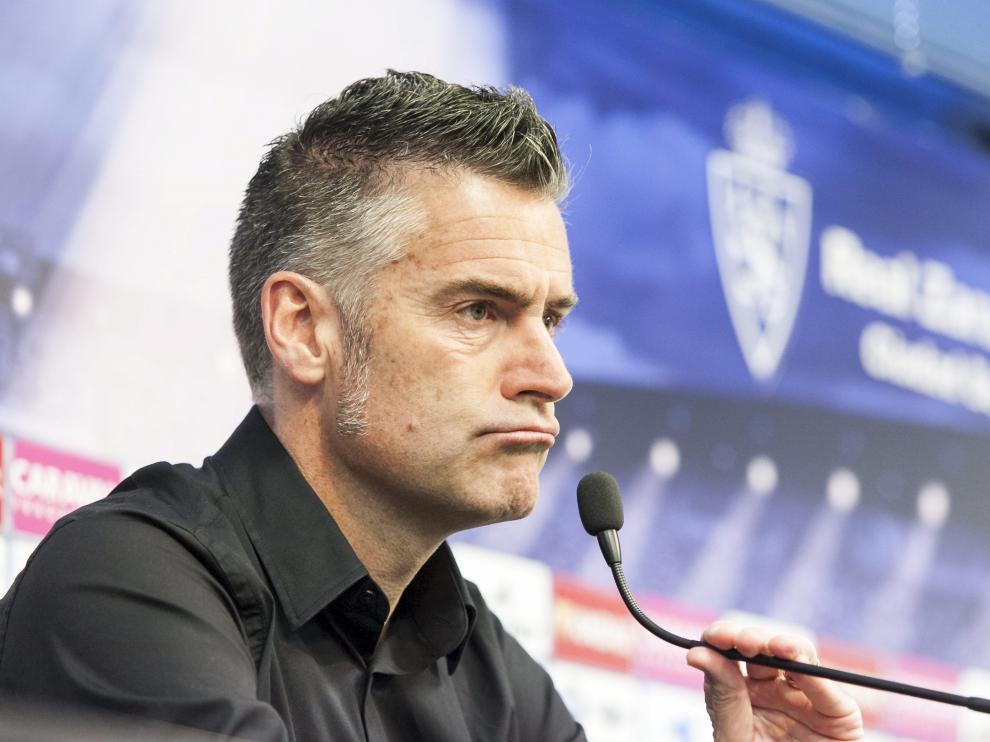 Lluís Carreras, en la sala de prensa de la Ciudad Deportiva.