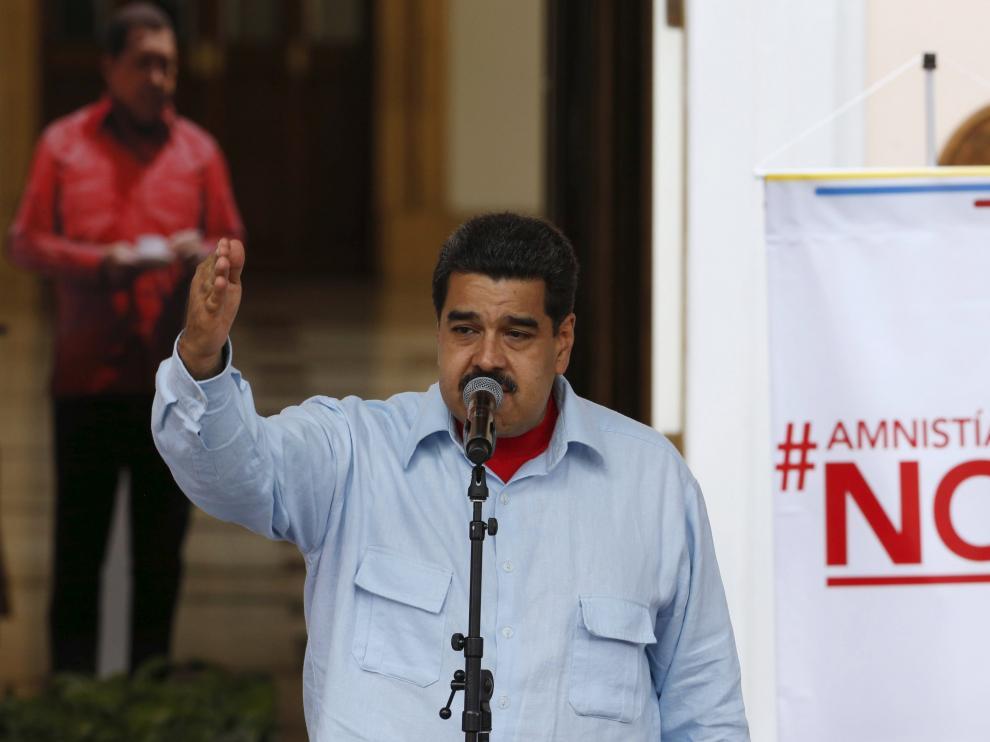 Maduro en una intervención en el Palacio de Miraflores.