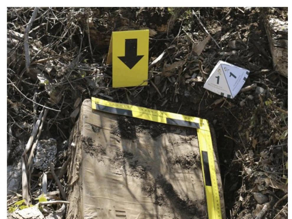 Imagen de las armas encontradas en Ceuta.