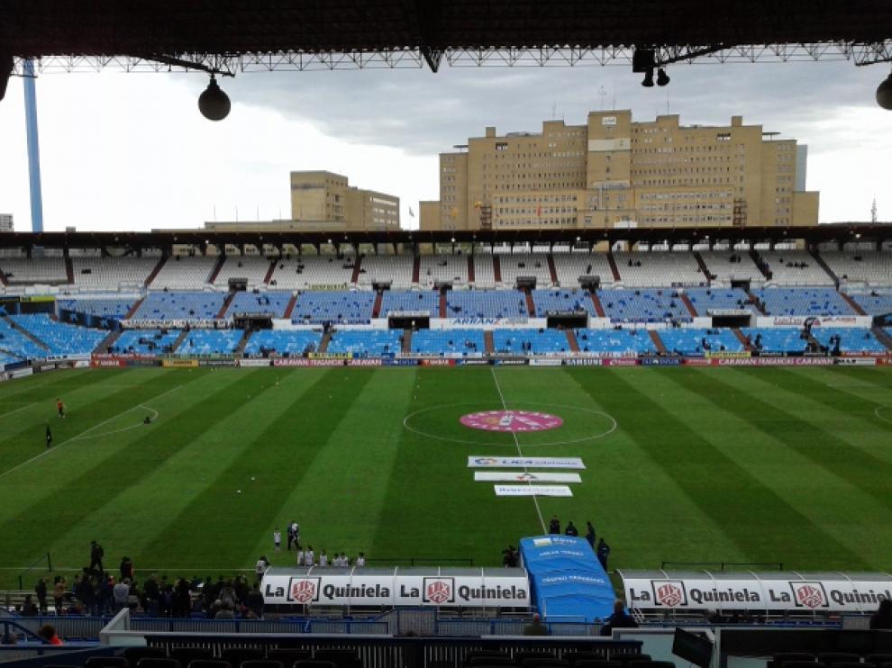 El estadio de La Romareda.