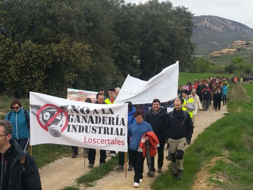 Manifestación por una ganadería sostenible en Loporzano