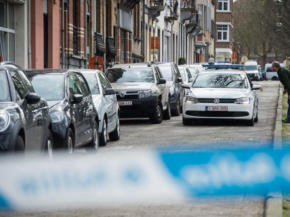 La policía belga, durante la operación de búsqueda llevada a cabo este sábado