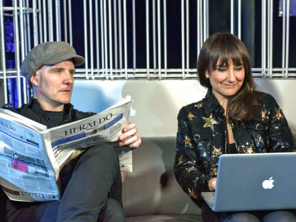 Eva y Juan, los componentes de Amaral, responden a las preguntas de los lectores de Heraldo