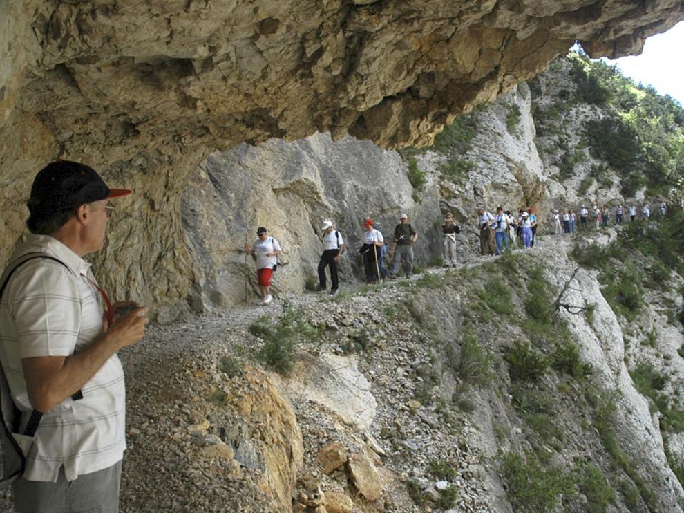 La parte catalana de la ruta discurre por el congosto de Montrebei, un desfiladero de película muy frecuentado.