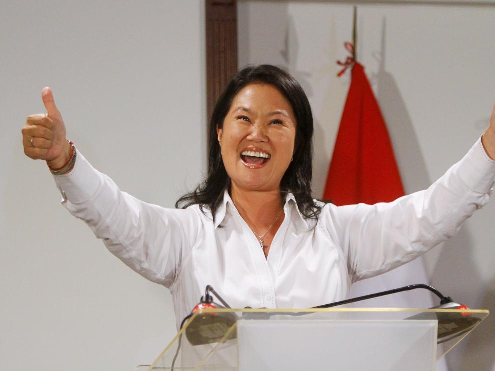 La candidata a la presidencia de Perú por el partido Fuerza Popular, Keiko Fujimori.