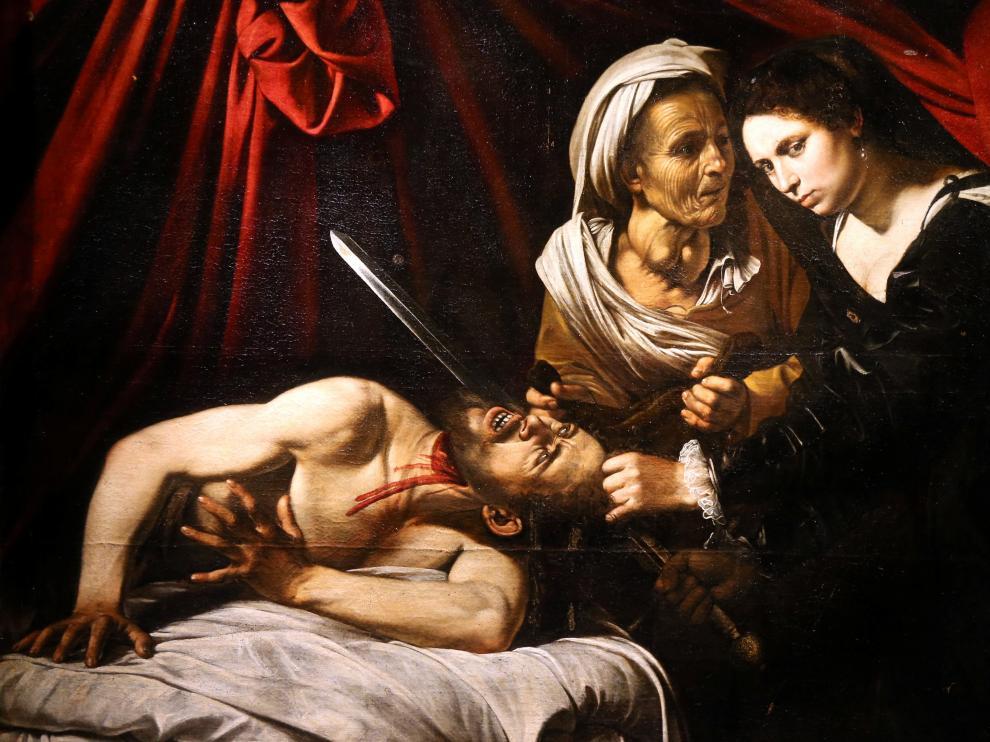 La obra atribuida a Caravaggio expuesta en París.