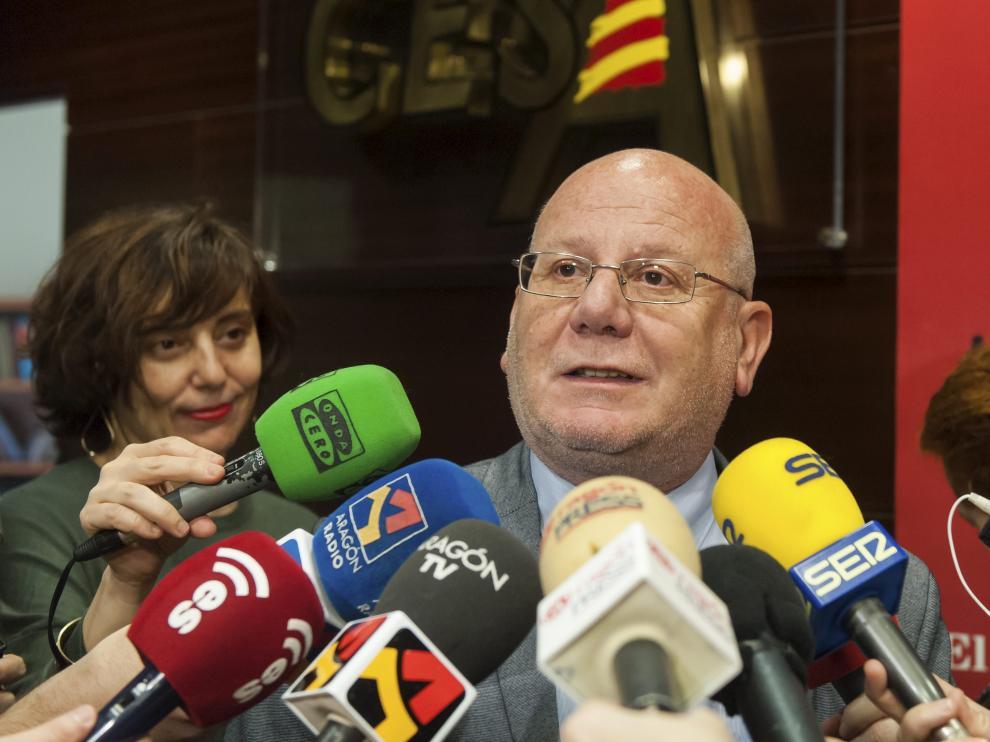 José Manuel Lasierra, tras su presentación como nuevo presidente del Consejo Económico y Social de Aragón.