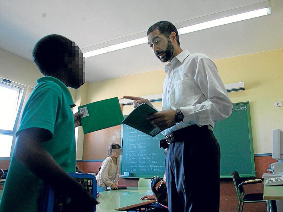 Un profesor de Religión Islámica en un centro aragonés.