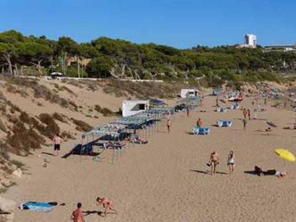 Una de las playas de Salou.