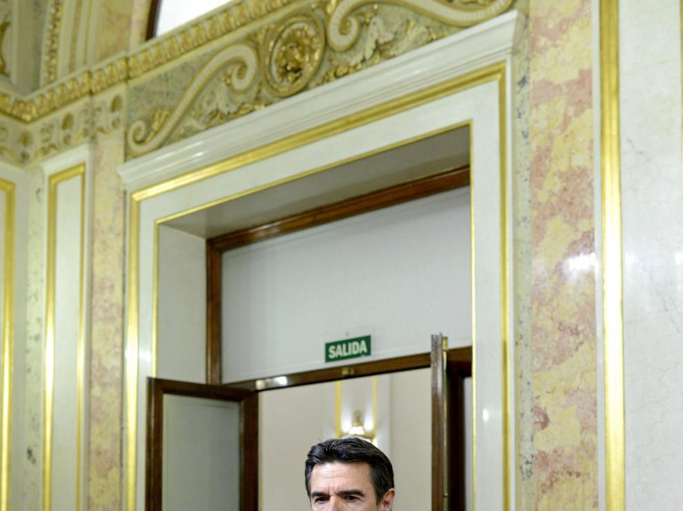 El ministro de Industria, José Manuel Soria, la tarde de este martes en el Congreso.