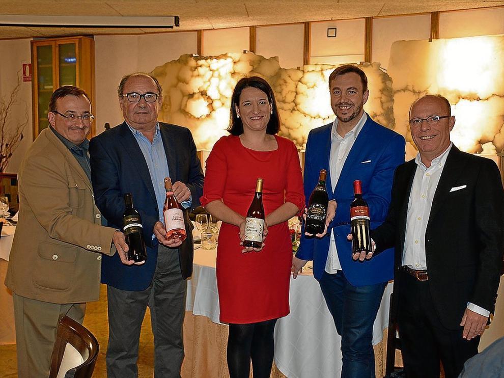 Carlos Melero, Mariano Bayarte, Ana Martínez Bujanda, Carlos Ayora y Pedro Tabuenca.